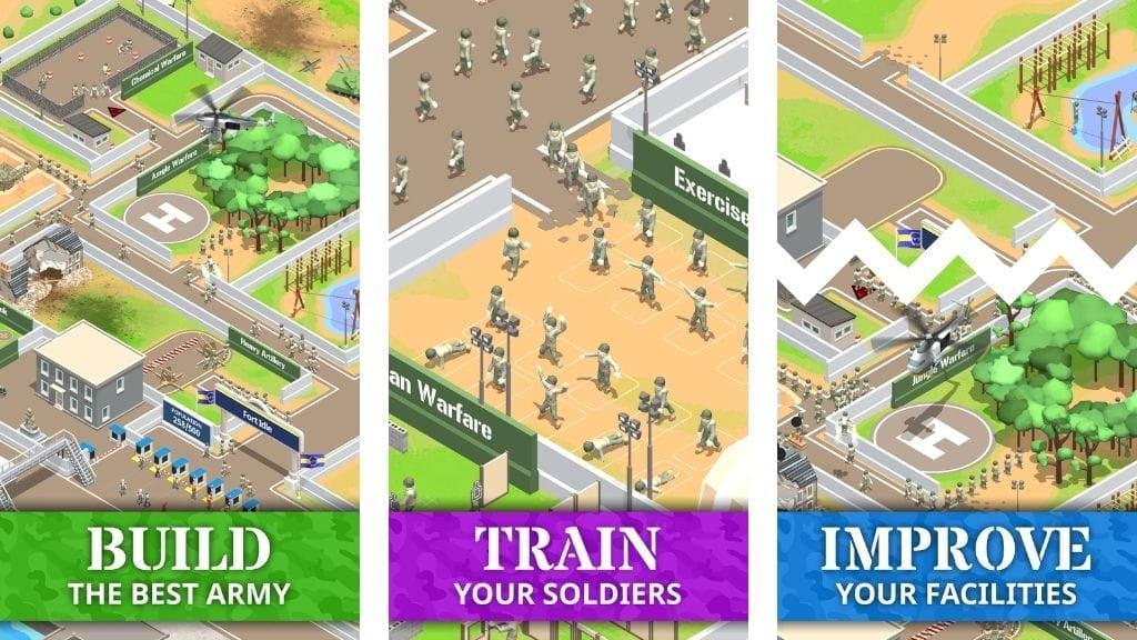 Idle Army Base Mod Apk download