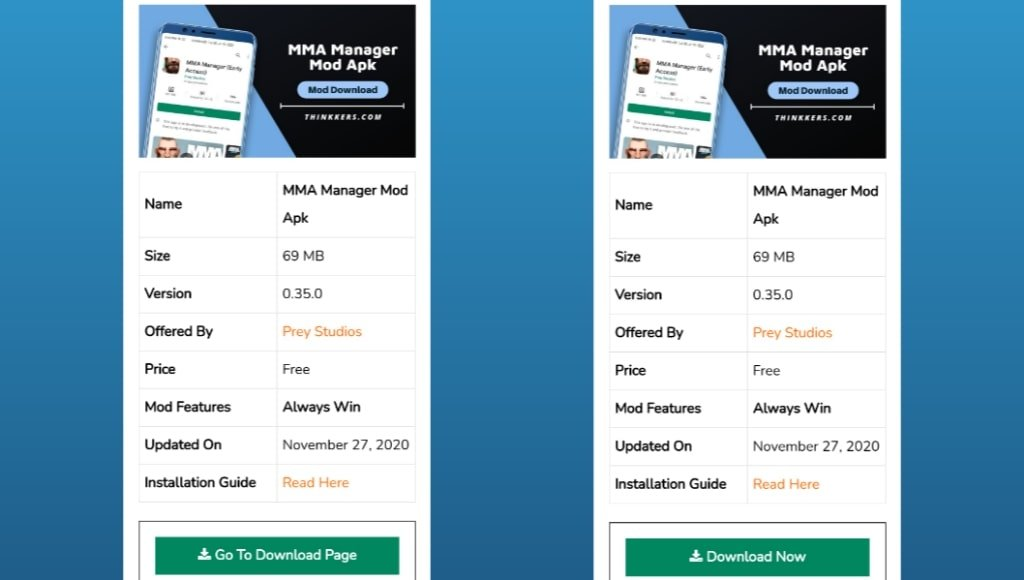MMA Manager Mod Apk Download