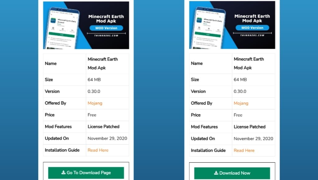 Minecraft Earth Mod Apk Download