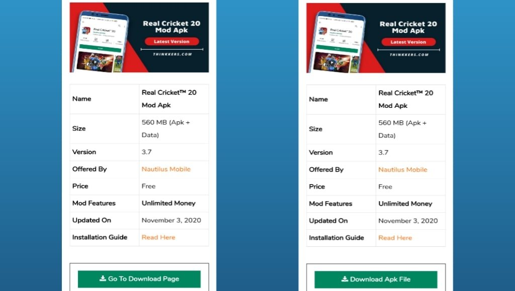 Real Cricket 20 Mod Apk Download