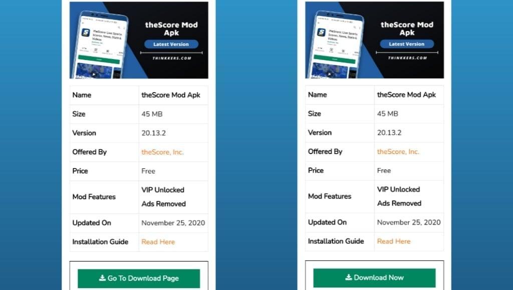 theScore Mod Apk Download