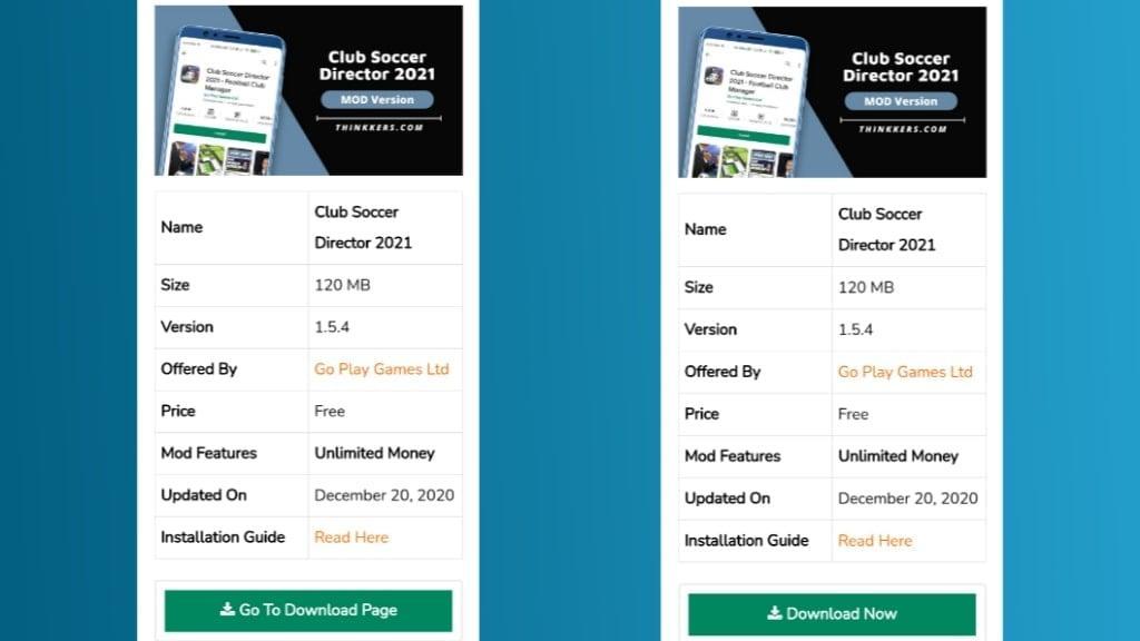 Club Soccer Director 2021 Mod Apk Download