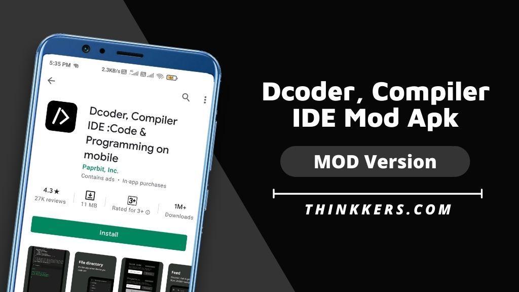 Dcoder, Compiler IDE MOD Apk - Copy
