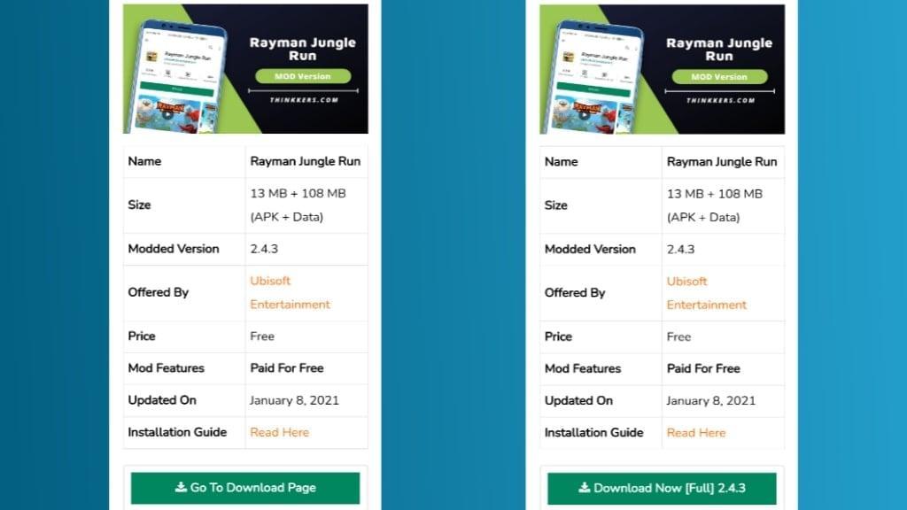 Rayman Jungle Run Mod Apk Download