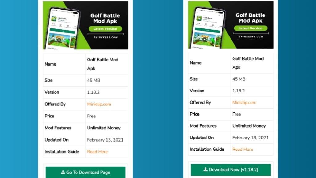 Golf Battle Mod Apk Download
