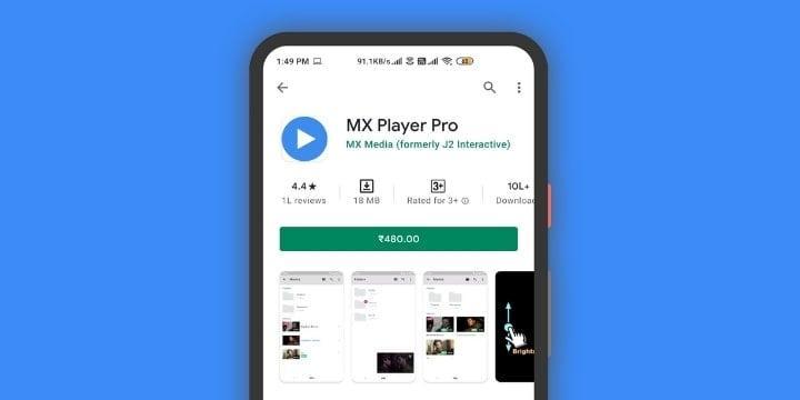 MX Player Pro Apk v1.36.11 (Premium Unlocked)