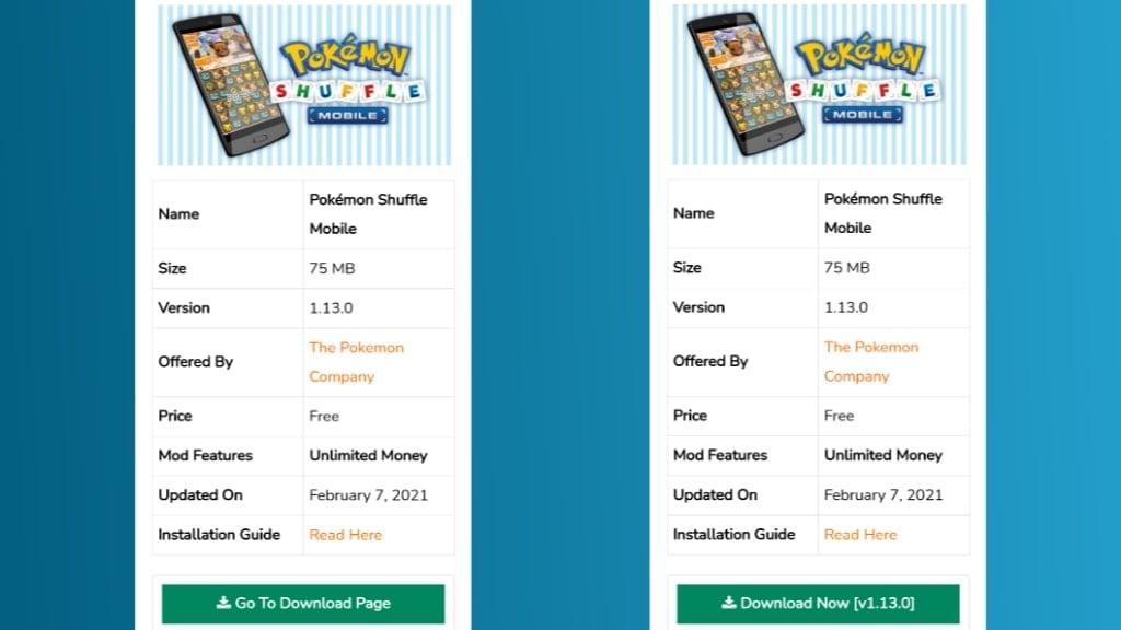 Download Pokémon Shuffle Mobile Mod Apk