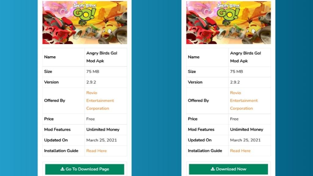 Angry Birds Go! Mod Apk Download