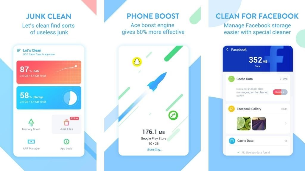 Ace Cleaner (Boost Speed Free) - Cache Cleaner For Android