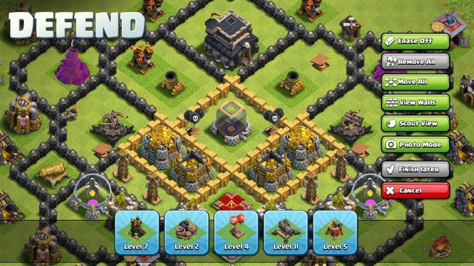 Clash of Clans defends