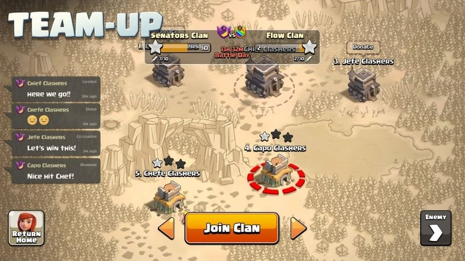 Clash of Clans teams