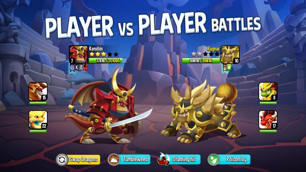 Dragon City battle