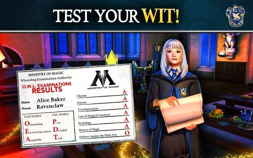 Harry Potter Hogwarts Mystery test