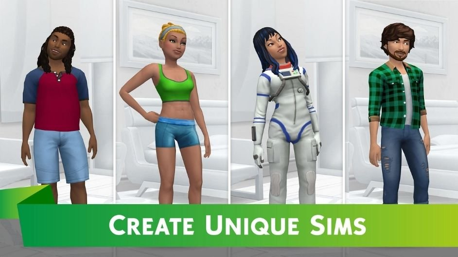 The Sims Mobile characters